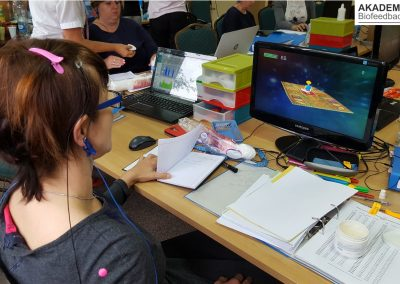 Trening Biofeedback EEG na planszy stymulacyjnej Dywan - Elmiko